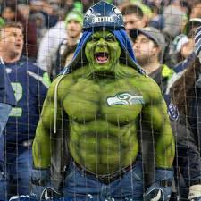 "Seahawk fan…the ""Seahulk"""